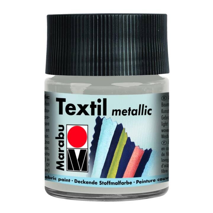 MARABU colore tessile metallizzato 50 ml argento