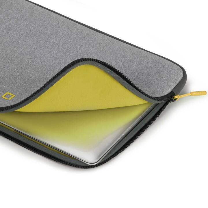 DICOTA Skin FLOW Pochette (35.8cm, Gris, Jaune)