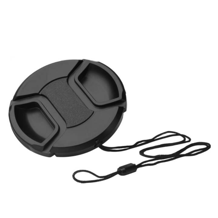 Bouchon d'objectif N&B, 5.5 cm, noir