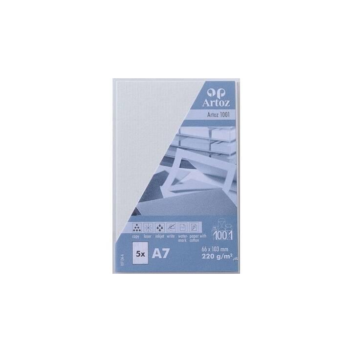 ARTOZ Visitenkarten 1001 A7 Weiss - 5 Stück