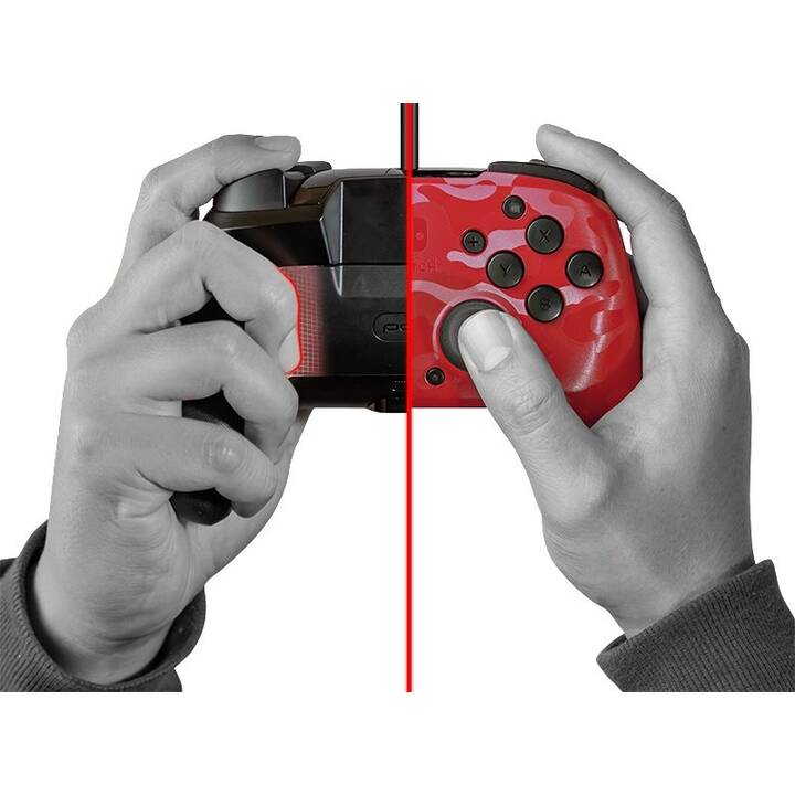 PDP Faceoff Deluxe+ Gamepad (Rosso)
