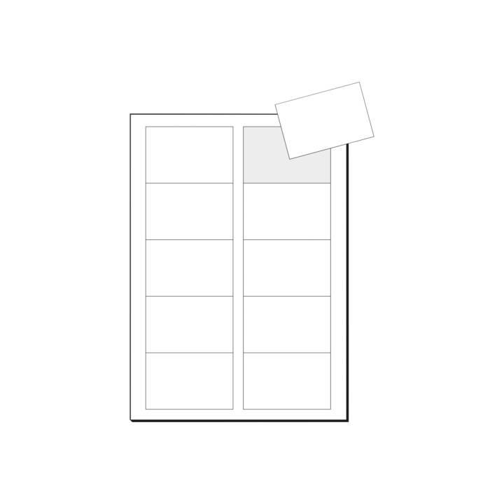 Cartes de visite SIGEL 3C, A4, 225 g, 400 pièces