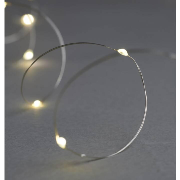 SIRIUS Chaîne d'éclairage de Noël à DEL Knirke argent, 160 lampes