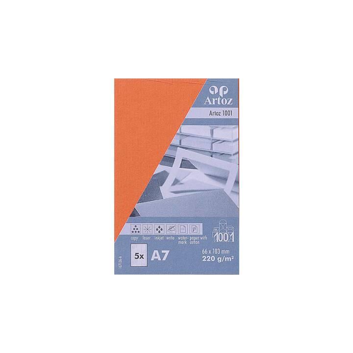 Biglietti da visita ARTOZ 1001 A7 rosso aragosta - 5 pezzi