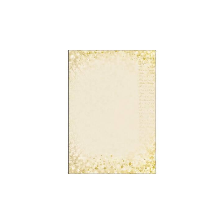 SIGEL Briefpapier Christmas Glow (Weihnachten / Advent, A4, Beige)
