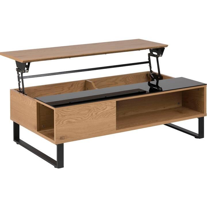 CREATIVE LIVING Tavolino da salotto Sanders (35 cm, Marrone, Nero)