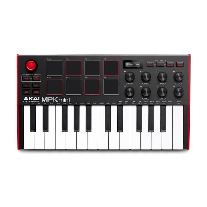 AKAI Keyboard Controller MPK Mini MK3 (Noir, Rouge)