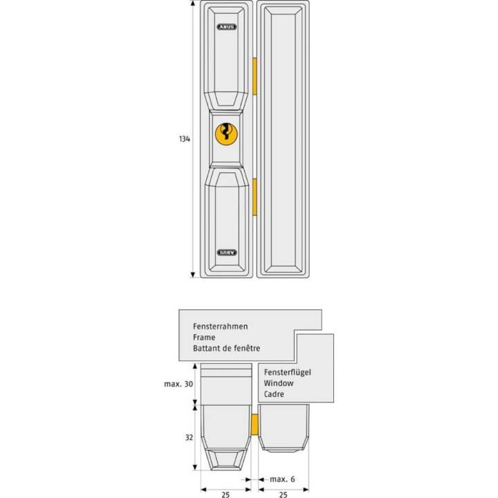 ABUS FTS 88 W (1 Stück)