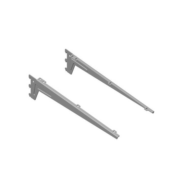 ELEMENT-SYSTEM Supporto mensola (Alluminio, 2 pezzo)