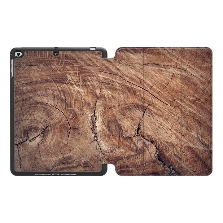 """EG MTT Custodia per Apple iPad 9.7"""" 2017-2018 - Venatura del legno"""