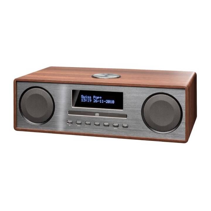 INTERTRONIC MS365 (Braun, Grau, Bluetooth, CD, Externes Wiedergabegerät, USB-Stick, Radio)