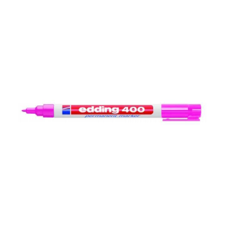 EDDING Marqueur permanent 400 (Rosé, 1 pièce)