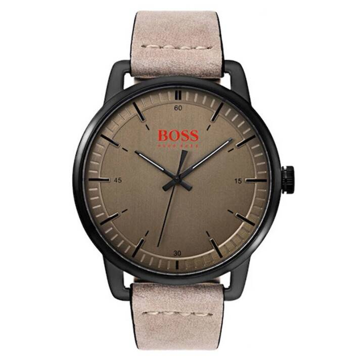 HUGO BOSS Stockholm (44 mm, Montre analogique, Quartz)