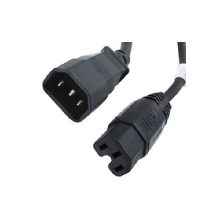 ORIGIN STORAGE Câble secteur (C15A / C14, 2 m, Noir)