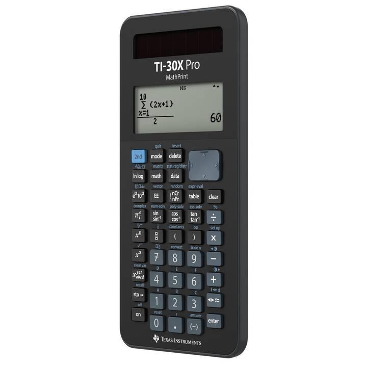 """TEXAS INSTRUMENTS TI-30X Pro MathPrint Calcolatrici da tascabili """"D/F/I""""  (Cellule solari, Funzionamento di batteria standard)"""