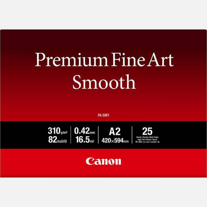 CANON Premium Fine Art liscia FA-SM1 Carta fotografica CANON Premium Fine Art Smooth FA-SM1