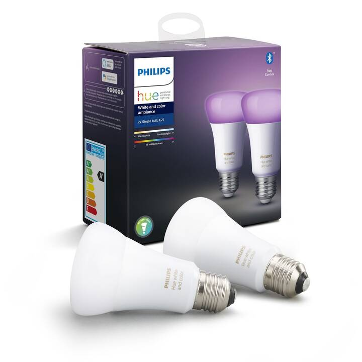PHILIPS LED Birne Hue (E27, WLAN, Bluetooth, 9.5 W)