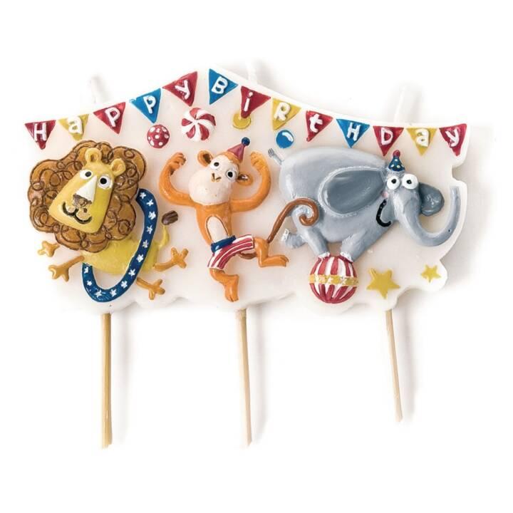 IBILI MENAJE Circus Candela di compleanno (Multicolore, 1 pezzo)