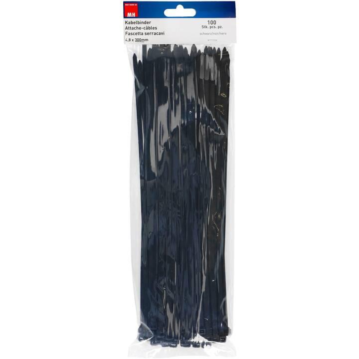 MAX HAURI Colliers de câbles (300 mm, 100 pièce)
