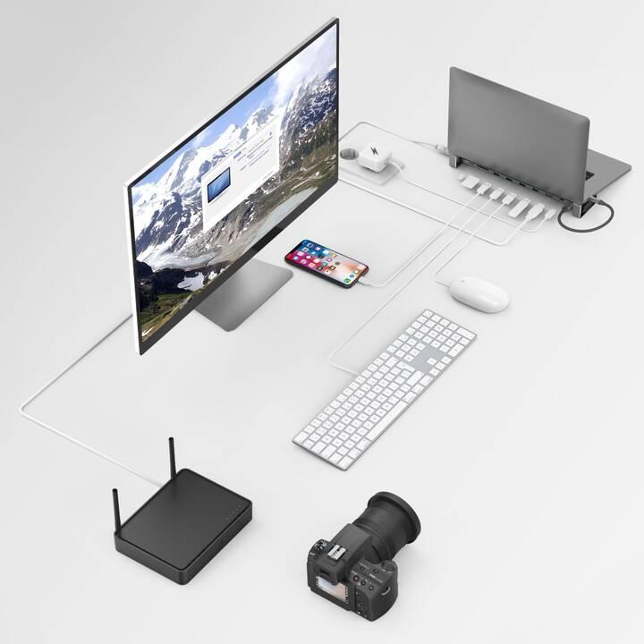 HAMA Stations d'accueil 9in1-USB-C (HDMI, 4 x USB 3.2 Typ-A, USB de type C, RJ-45 (LAN))