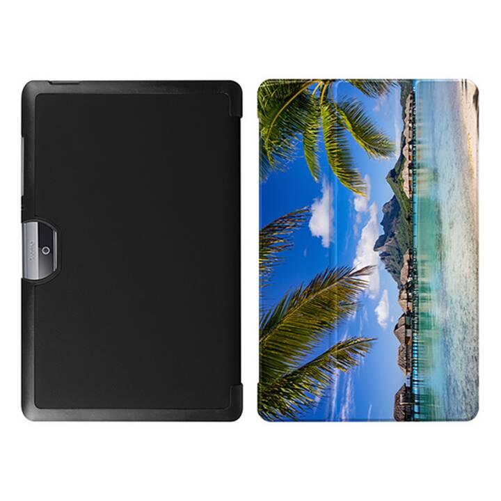 """EG MTT Tablet Tasche mit faltbarer Abdeckung für Acer Iconia Tab 10 10.1 """"- Beach"""