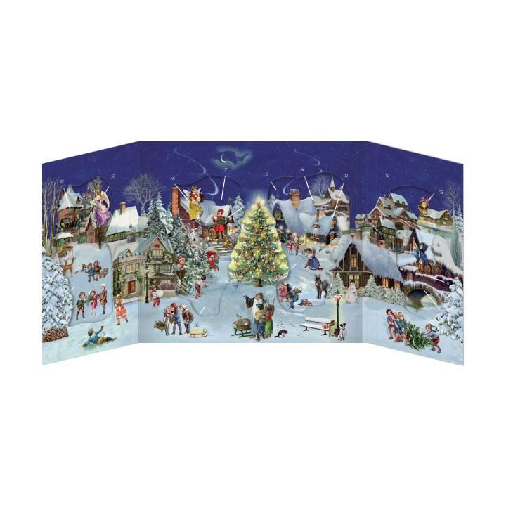 COPPENRATH Winterabend im Dorf Adventskalender (68 x 30 cm)
