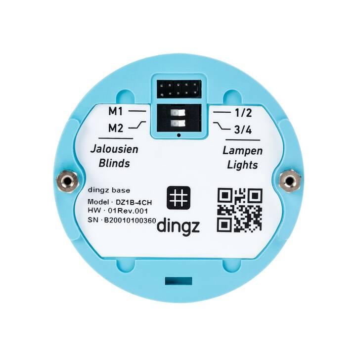 DINGZ DZ1B-4CH + DZ1F-PIR-BK Interruttore della parete (Senza fili)