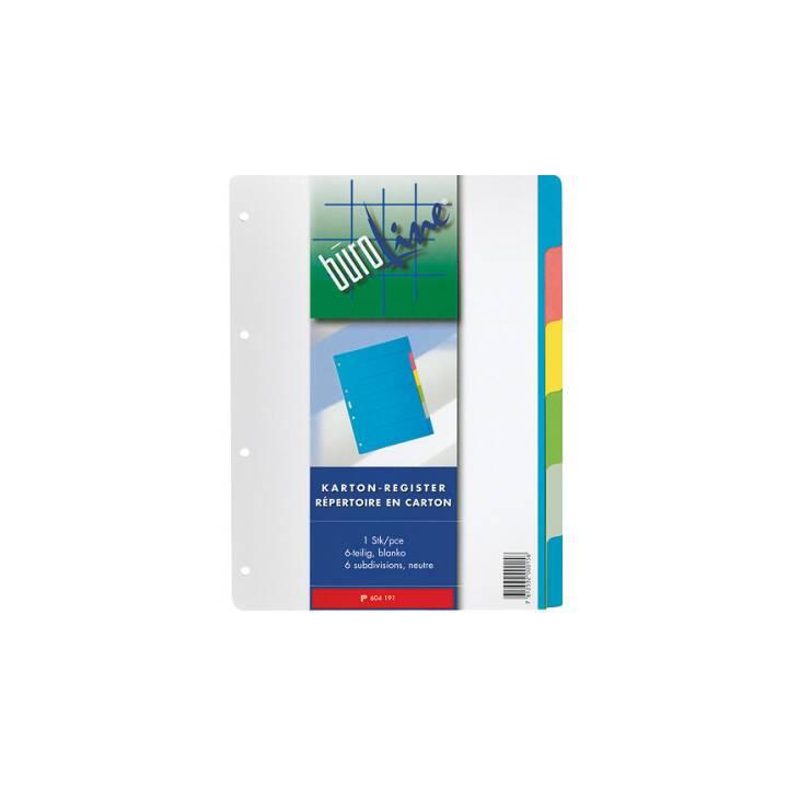 BÜROLINE Register Farblich (A4)