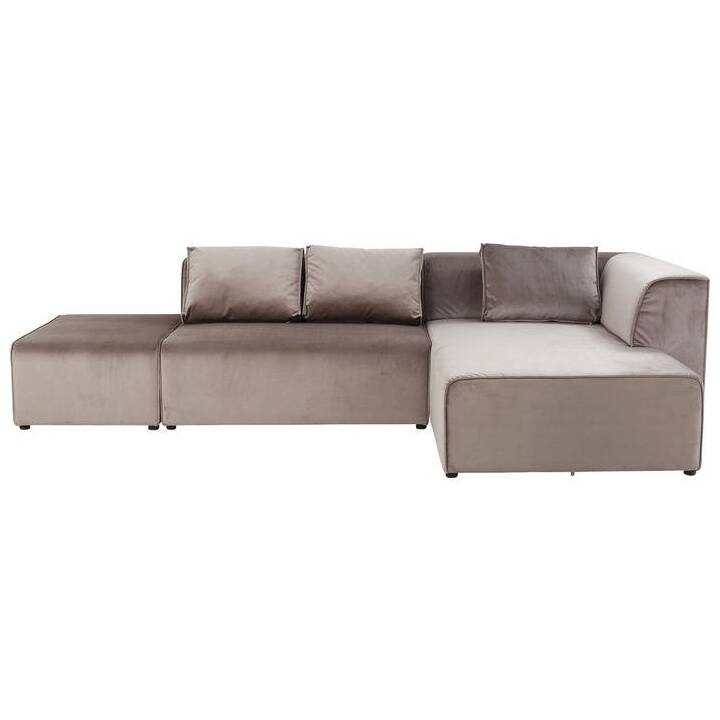 KARE Infinity Canapé (Polyester, Taupe, 302 cm x 182 cm)