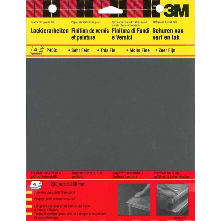 3M Schleifpapierbogen (400, 4 Stück)