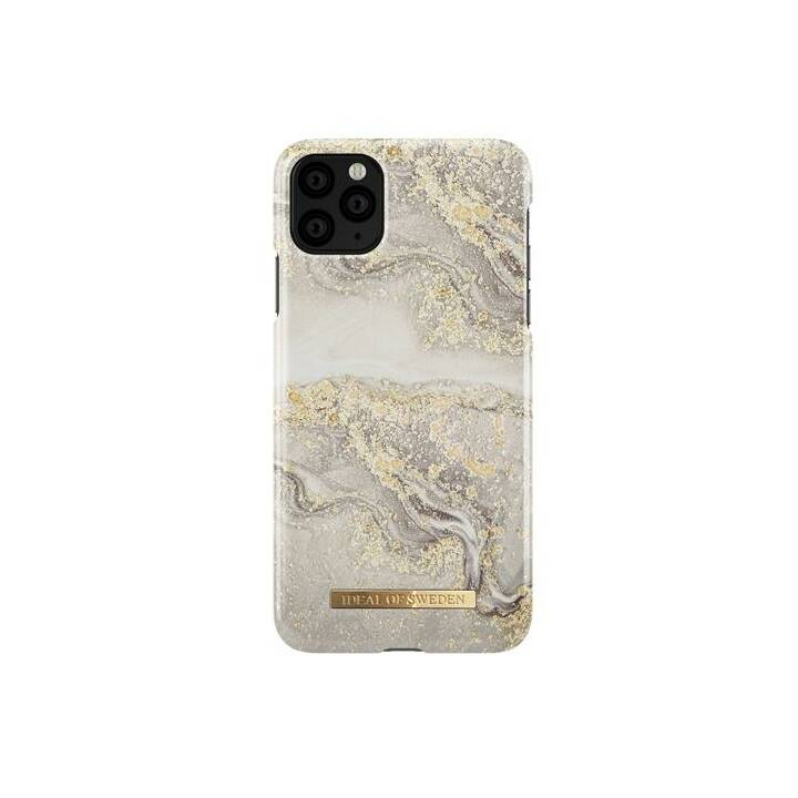 IDEAL OF SWEDEN Backcover Sparkle Greige Marble (iPhone 11 Pro Max, Grau)