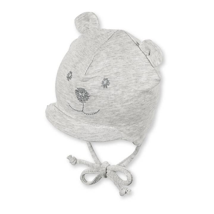 STERNTALER Cappellino per neonati bear Jersey (62, Argento, Grigio)