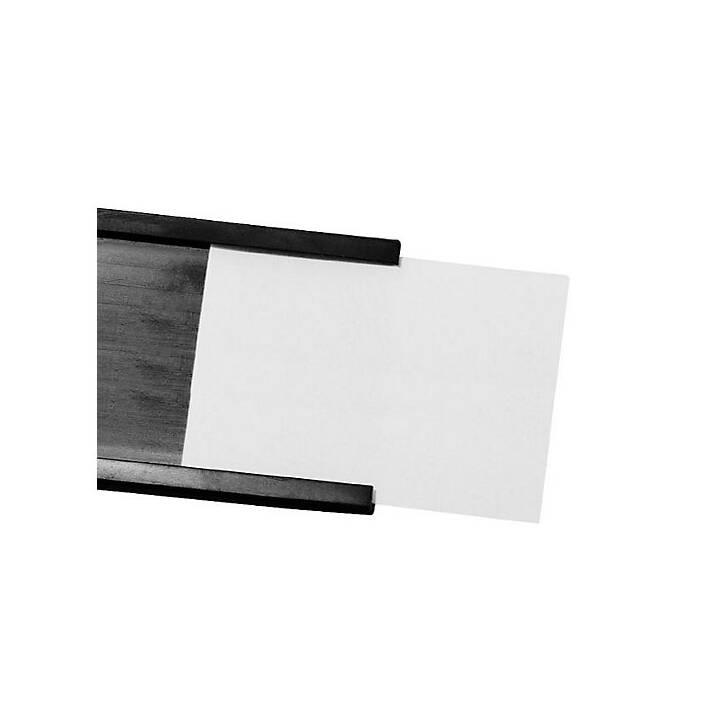MAGNETOPLAN Porta etichetta  C-Profil 50mx50mmx1mm (Nero)
