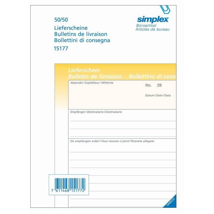 SIMPLEX Bolla di consegna 15177 (A5)