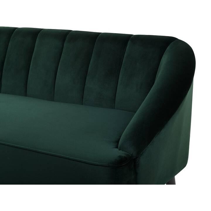 BELIANI Alsvag Canapé (Velours, Vert, 183 cm x 73 cm)