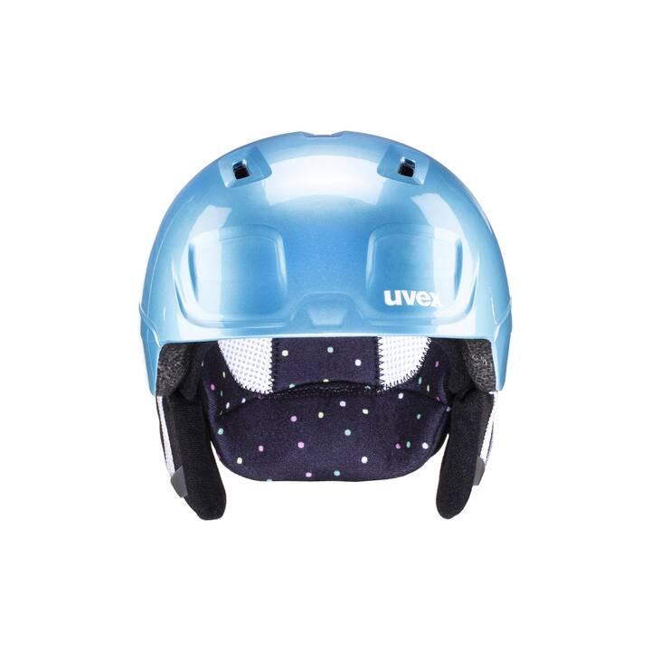 UVEX Casco da sci (S, Blu chiaro, Pink, Giallo)