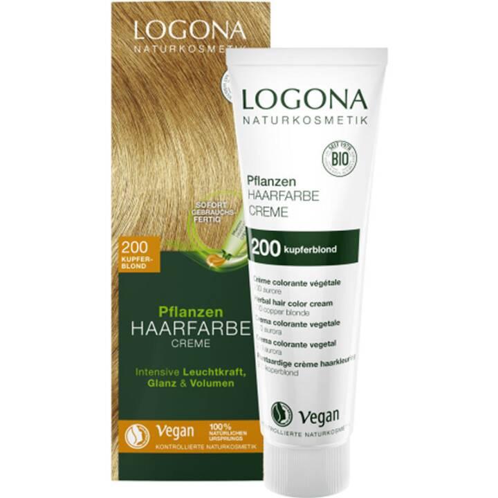 LOGONA Pflanzenhaarfarbe Vegan (200 Copper Blonde)