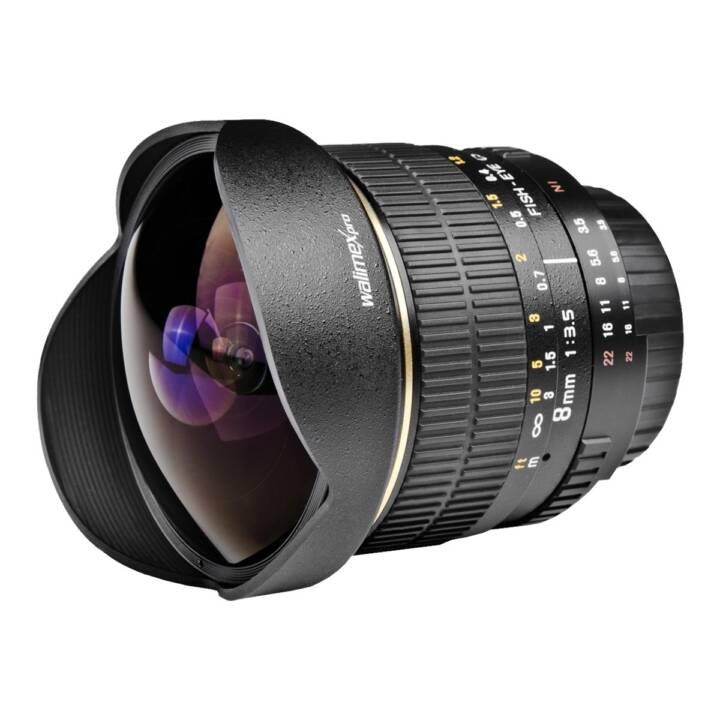 WALIMEX Pro Fischaugenobjektiv 8 mm f/3.5