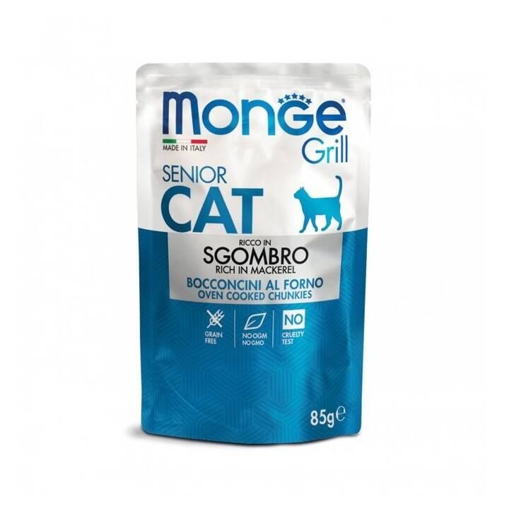 MONGE Grill Cat (Senior, 85 g, Huhn)