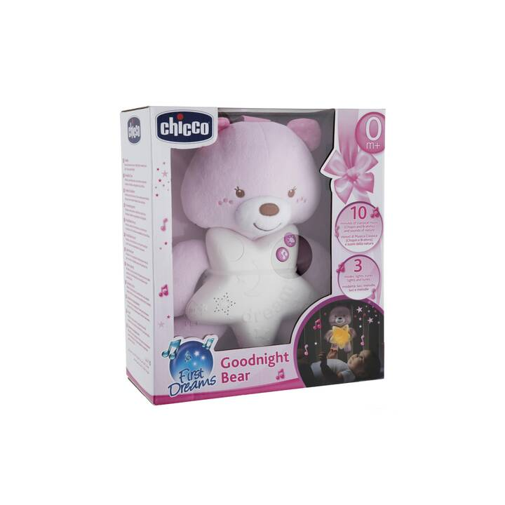 CHICCO Goodnight Bear (30 cm, Pink)