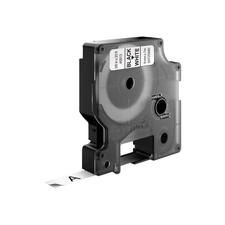 DYMO D1 Cassette du ruban encreur (Noir / Blanc)