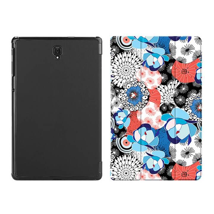 "EG MTT Custodia tablet per Samsung Galaxy Tab S4 10.5"" - nero fiore bianco"