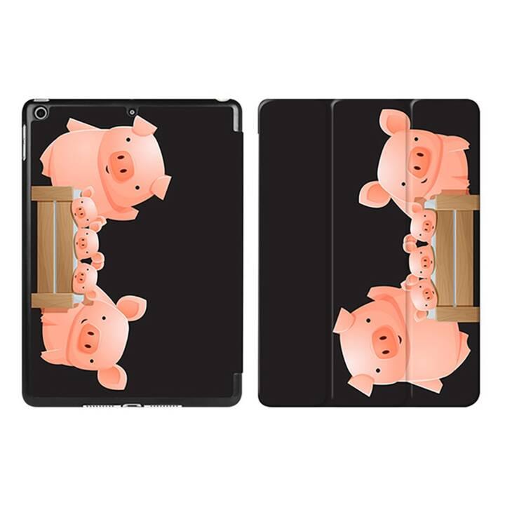 "EG iPad Sleeve pour Apple iPad 9.7"" 9.7"" 9.7"" - cochons noirs de dessin animé"