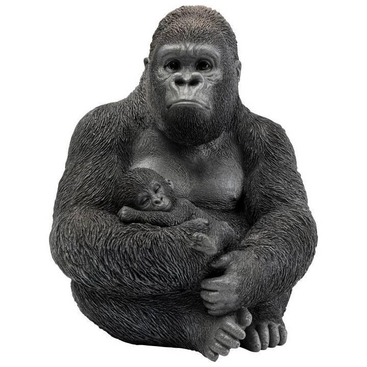 KARE Figura decorativa Cuddle Gorilla Family (Nero)