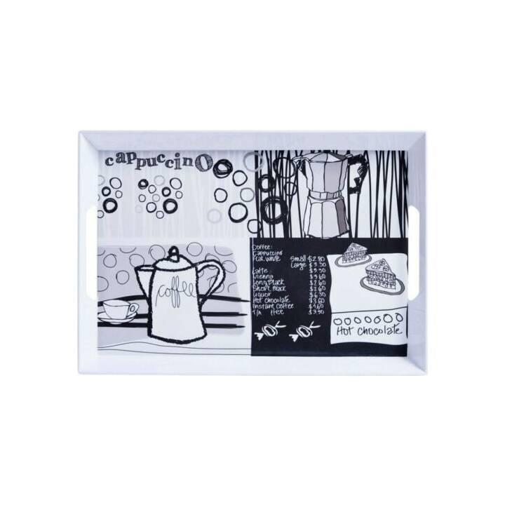 ZELLER PRESENT Plateau de service Coffee (Blanc, Noir)