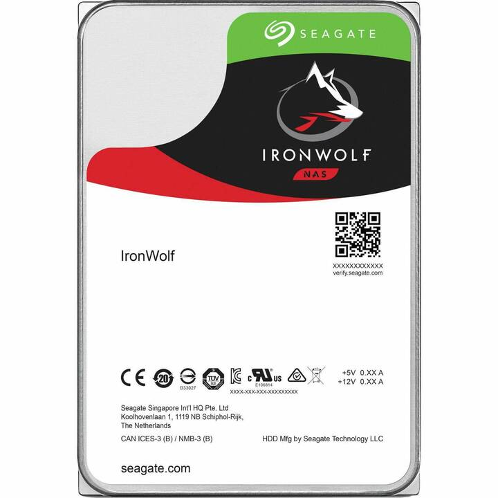 Seagate IronWolf ST12000VN0008 - disque dur - 12 To - SATA 6Gb/s