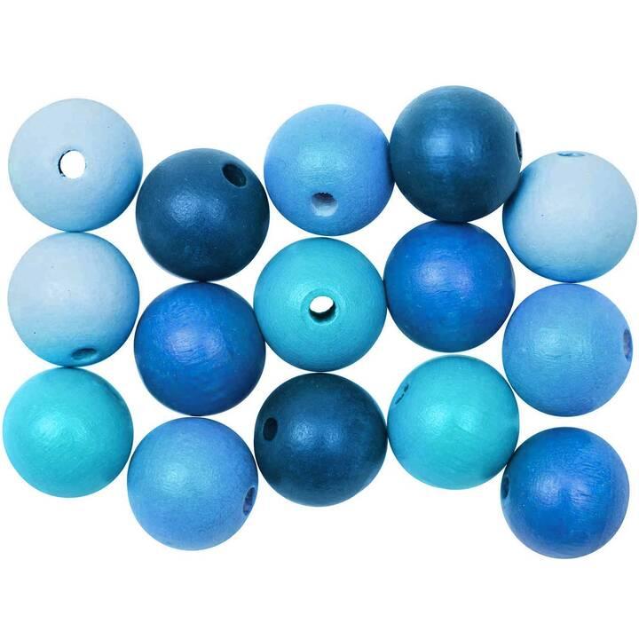 RICO DESIGN Perlen (Holz, Blau, Türkis)