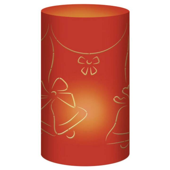 URSUS Weihnachtswindlichter Glocken Rot
