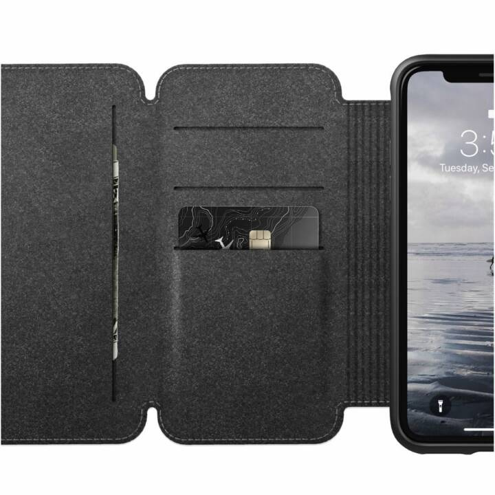 NOMAD Book Cover Rugged Tri-Folio iPhone XR