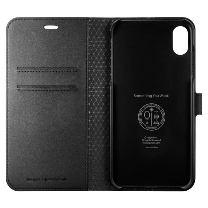 Spigen Wallet S Plus Black für iPhone Xs